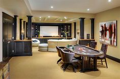 luxury man caves luxury man cave poker table a must media room