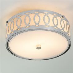 Small Interlocking Rings Flush Mount Ceiling Light, $99