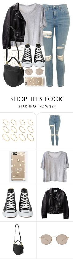 """Outfit for a college tour"" by ferned ❤ liked on Polyvore featuring ASOS, Topshop, Casetify, Clu, Converse, Mulberry and Gucci"