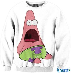 Surprised Pat Meme Crewneck Sweatshirt