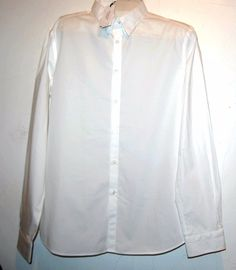 Versace Collection Men's White Dress Cotton Button Up Shirt Sz 18 45 $295 #VersaceCollection #ButtonFront