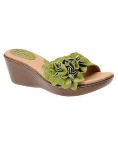 lime green summer sandals