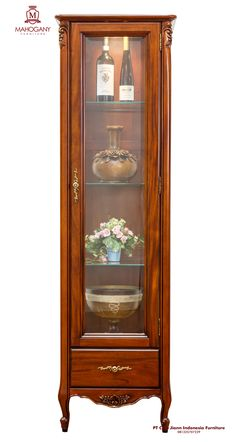 E-TP52-1.6M Charlotte Display Cabinet 1 Door with drawer1.6 Feet, Made From Solid Mahogany. PT Chia Jiann Indonesia Furniture Email : bobby_sulist@hotmail.com, chia-jiann@indo.net.id #Furniture #Classicstyle #Carving #Mahogany #Indonesia #Mahoganyfurniture #Solidmahogany #Mahoganywood Mahogany Furniture, Bobby, Classic Style, Charlotte, Carving, Europe, Display, Cabinet, Home Decor