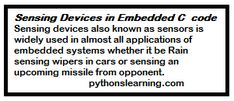 Sensing Devices in Embedded C code | RTOS in Embedded Sensing devices also known as sensors is widely used in almost all applications of embedded systems whether it be Rain sensing wipers in cars or sensing an upcoming missile from opponent. C Code, Learn C, Writing Code, Development Board, Data Sheets, Arduino, Rain, Coding, Rain Fall