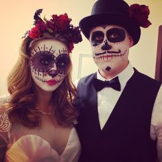 Dia de Los Muertos couple costume :)