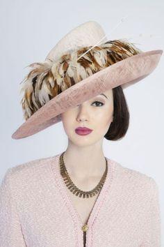 Blush tilt hat BY SALLY HARPER-KENN  millinery  hats  HatAcademy Fancy Hats 05f518f4bae6
