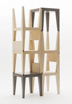 White painted wooden Display shelf Wall unit by Penzer