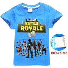 First4Fashion Fortnite Battle Royale Legend Gaming Pattern Tops Baby Girls  Boys T-shirt Adolescentes 89044cfcebfee