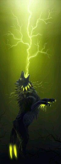 Lightning wolf