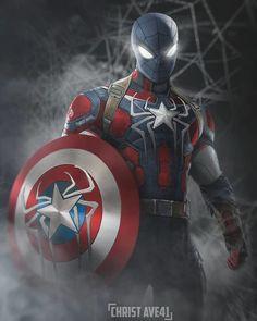 The Avengers 734579389203070844 - Source by Spiderman Costume, Spiderman Art, Amazing Spiderman, Marvel Comics Art, Marvel Comic Books, Marvel Avengers, Marvel Heroes Names, Captain Marvel, Captain America Art