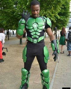 Dc Cosplay, Male Cosplay, Best Cosplay, Cosplay Costumes, Awesome Cosplay, Cosplay Ideas, Green Lantern Kostüm, Green Lantern Cosplay, Black Cosplayers