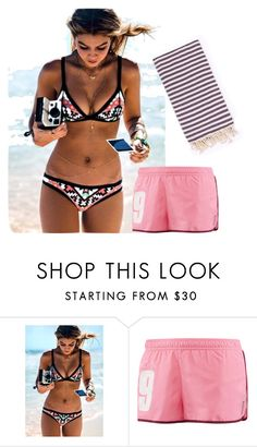 """Untitled #1956"" by mikaelaryan ❤ liked on Polyvore featuring Seafolly, Reebok and Turkish-T"
