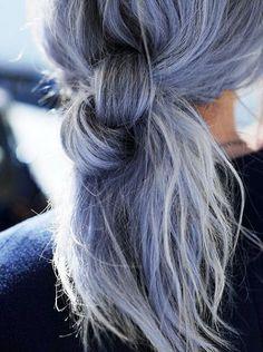 ...Indigo pastel on Ash Blonde Knot