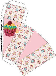 Cajitas Imprimibles para fiestas de pastelitos - cupcakes. | Ideas y material gratis para fiestas y celebraciones Oh My Fiesta!