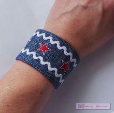Im Rahmen meiner Marktvorbereitungen  hab ich heute Armbänder gewerkelt.   Beim sticken kam mir die Idee, daß das doch genau das Richtige i...