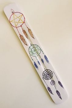 Hand Painted Incense Holder Ash Catcher for by WiccaWaxandWands