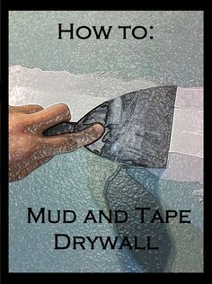 Handy tutorial to mud and tape drywall