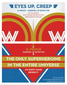 Wonder Woman wants your eyes up here and Superman doesn't want to hear any questions about his underpants in a series of funny superhero business cards.