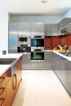 Fancy The kitchen us all stainless look was inspired by pop star Adam Levine