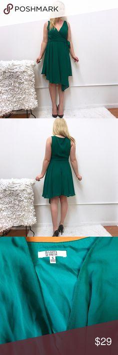 "BB Dakota wrap dress in green Sz S Small By Dakota dress. Sz small. Chest flat across 18"" length 40"" at the longest part. BB Dakota Dresses"