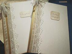 A4 Ivory Wedding Keepsake Guest Book and scrapbook set