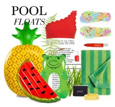 """POOL FLOATS"" by gizaboudib ❤ liked on Polyvore featuring interior, interiors, interior design, home, home decor, interior decorating, Big Mouth, Wembley, Lilly Pulitzer and Marimekko"