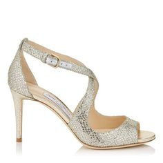 918475236b9 JIMMY CHOO EMILY 85 Champagne Glitter Fabric Sandals.  jimmychoo  shoes  s  Silver