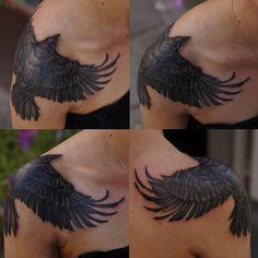 Freehand Shoulder crow by ~strangeris on deviantART