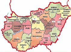 Map of hungary Hungarian Girls, Hungarian Food, European Map, Heart Of Europe, My Roots, Budapest Hungary, Cartography, Eastern Europe, Geography