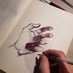 Hand study art plastique, art tips, art tutorials, art reference, how to dr Art Sketches, Art Drawings, Pencil Drawings, Stylo Art, Art Et Design, Ui Design, Ballpoint Pen Art, Creation Art, Arte Sketchbook