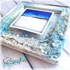 Mixed media marine frame by Kasia Bogatko
