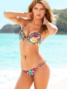 b3549b6aad430 STRAPPY ADD-2-CUPS PUSH-UP HALTER TOP  Bikini Fashion 2014 Swimsuits