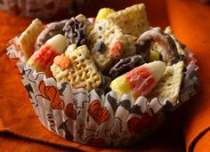 Halloween Candy Corn Chex Mix
