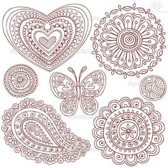 Paisley Pattern Henna Tattoo Designs