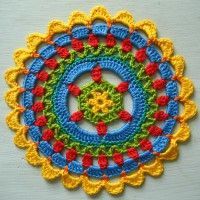 Crochet Mandala Wheel made by Ana, Slovenia for yarndale.co.uk