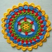 Crochet Mandala Wheel made by Ana, Slovenia for yarndale.co.uk