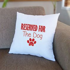 Personalised #reserved for dog #cushion cover | custom #novelty gift for dog owne,  View more on the LINK: http://www.zeppy.io/product/gb/2/222200756851/