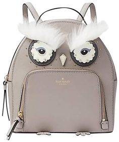 9e42f10192f Kate Spade Owl Tomi Star Bright Owl Grey White Leather Backpack. Get one of  the