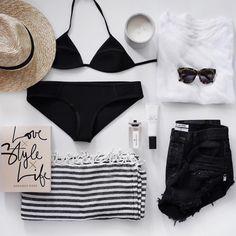 "Rachel James on Instagram: ""Beach weekend essentials """