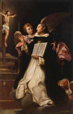 Visión de Santo Tomás de Aquino (Felice Cignani, 1683, Pinacoteca Cívica, Forli). Hebe Garibay.