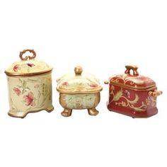 3-Piece Avery Porcelain Box Set