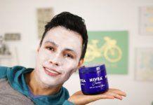 Mascarilla de crema Nivea para reparar al piel