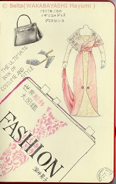2013_12_29_Fashion_01_s Fashion. the ultimate book of costume and style. I'm reading this book now. for this drawing I used: Faber castell polychromos Moleskine sketchbook large size © Belta(WAKABAYASHI Mayumi )