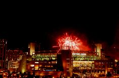 Fireworks light up the night over Petco Park, home of the San Diego Padres.