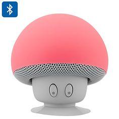 Seta roja Altavoz Bluetooth - Splash Proof, ventosa, 280mAh Batería Recargable, 3W de salida, 10 Meter Rango. Sólo el envío más rápido expedita Mushroom http://www.amazon.es/dp/B00SKRM8Y6/ref=cm_sw_r_pi_dp_N1unvb0W7VJFZ