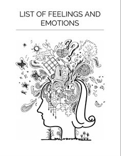 Free printable worksheet with complete list of emotions and feelings. fessional-You can find List of emotions and more on.