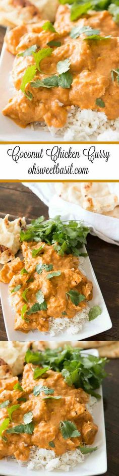 Kid Friendly Easy Coconut Curry Chicken ohsweetbasil.com