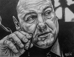 """""""Those who want respect, give respect."""" ~Tony Soprano🖤 Introducing ... the beloved #JamesGandolfini for the #capiscefacesseries 🏽🇮🇹 #rainbowriverart #moviecharacterfacesseries #actor #badabing #wiseguys #rip #youaremissed 🖤 #TonySoprano #Sopranos #TheSopranos #Godfather Rainbow River, Tony Soprano, The Godfather, Movie Characters, Hyde, Graphite, Respect, Pencil, Sketches"""