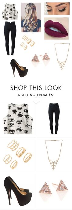 """""""Untitled #510"""" by ray-dany ❤ liked on Polyvore featuring Chicnova Fashion, J Brand, Forever 21, Edge of Ember, Christian Louboutin, EF Collection and Topshop"""