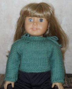 site has free patterns for American Girl dolls to sew, knit, and crochet